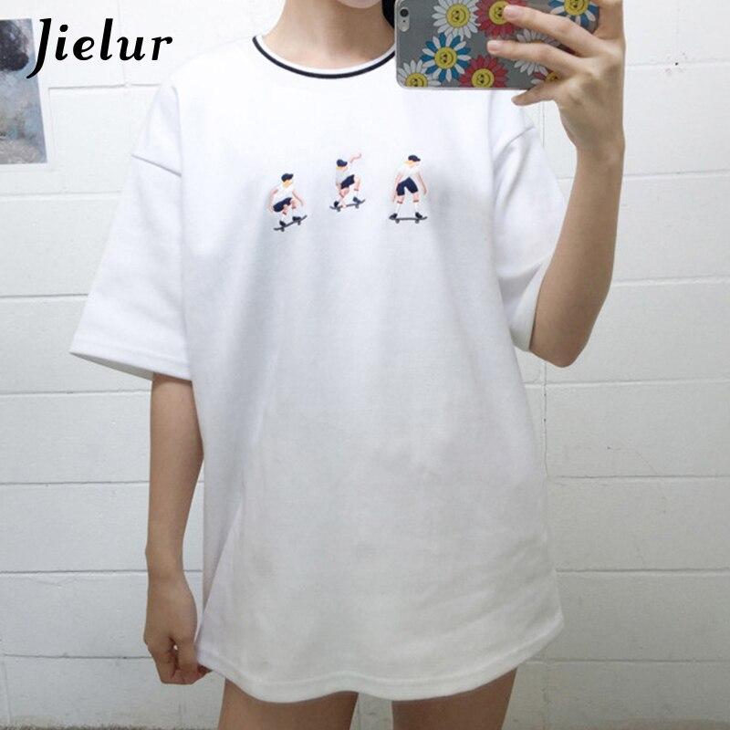 College-Harajuku-Art-Skateboard-jugendliches T-Shirt Jielur 2019 - Damenbekleidung - Foto 2