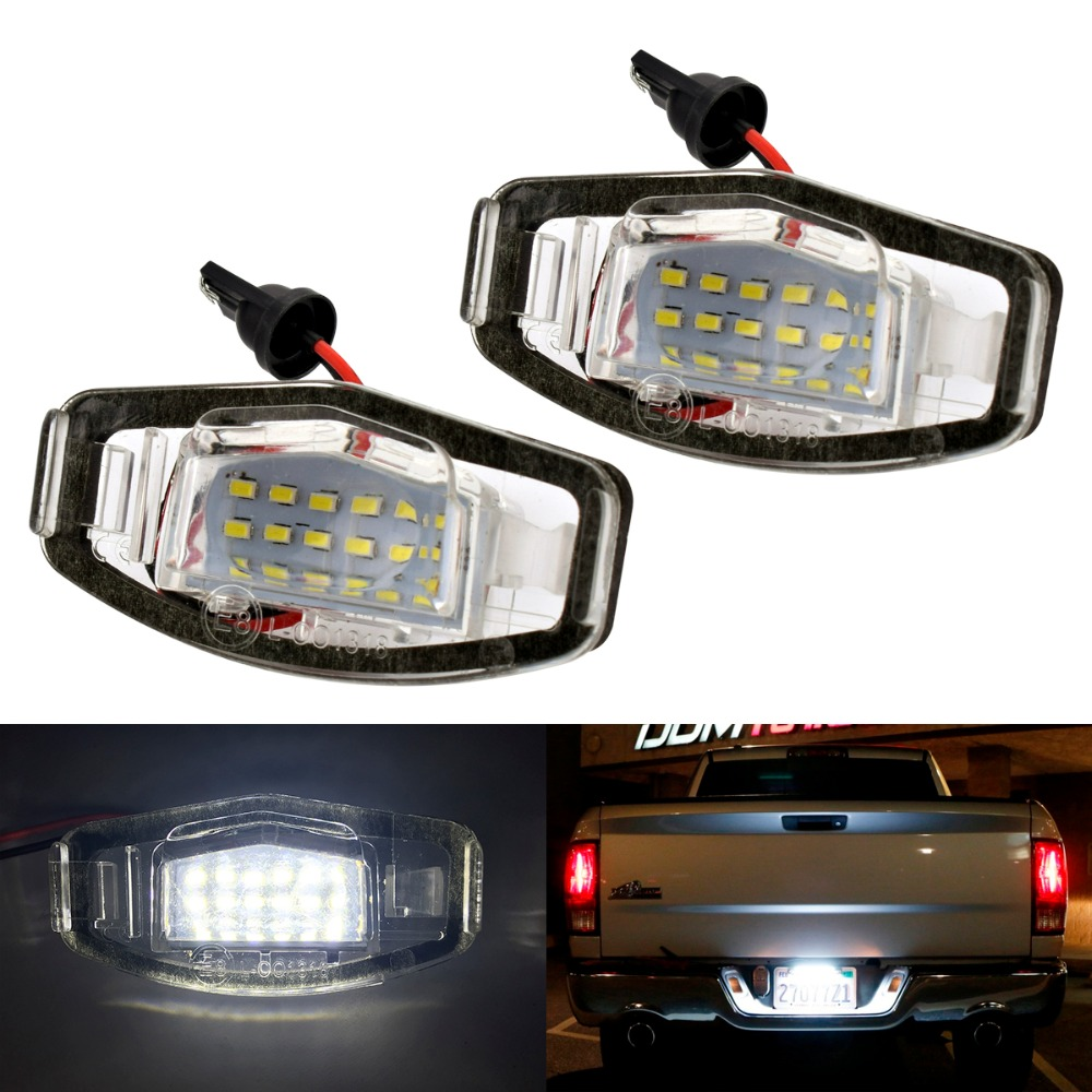 2Pcs car styling18 LED Number License Plate Light For Honda for Civic VII4 / VIII for Accord for Legend  car accessories