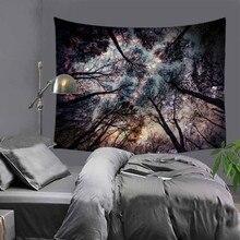 Волшебный лес звездное небо элемент гобелен хиппи мандала на стене богемный покрывало общежития
