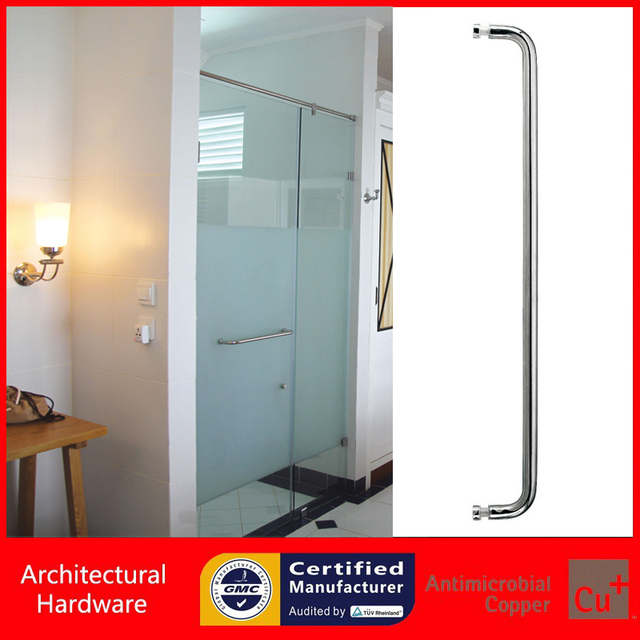 Polished Shower Door Handle 304 Grade Stainless Steel Pull Handles Available For Bathroom Glass Doors PA  sc 1 st  AliExpress.com & Polished Shower Door Handle 304 Grade Stainless Steel Pull Handles ...