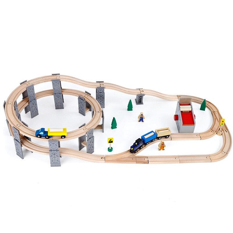 Et amis pont en hêtre voie en plastique en spirale voie ferroviaire accessoires voie pont piliers avec des voies en bois adaptés aux Trains Thoma