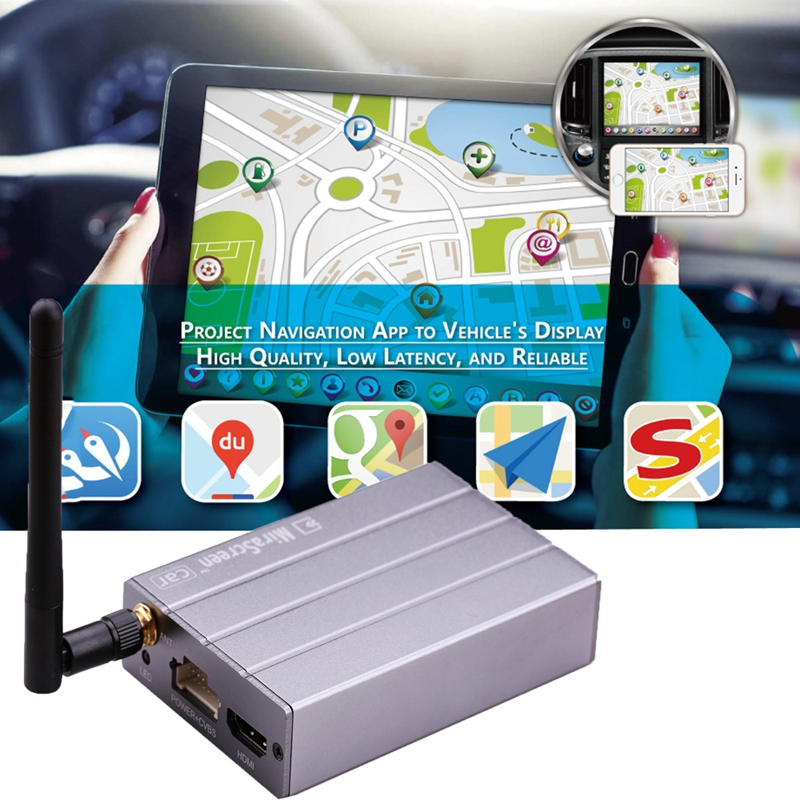 TOP MiraScreen Car Wireless WiFi Display Dongle Adapter Airplay Miracast DLNA GPS Navigation Car for iOS Android Phone Pad TV