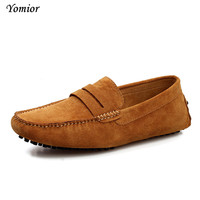 Yomior Brand Loafers 2017 Mens Real Leather Office Drivers Shoes Spring Autumn Men S Flats Casual