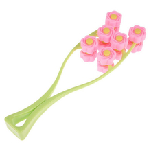 1pcs Flower Shape Elastic Massager Roller Facial Skin Preventing Wrinkle Wheel Facial Massager Massage Roller FaceLift Slimming