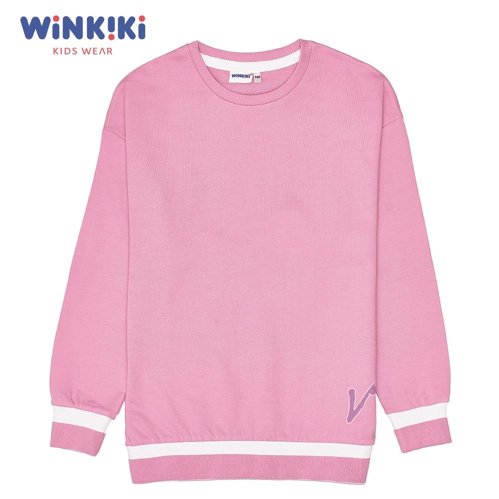 цена на Hoodies & Sweatshirts Winkiki WTG91446 children clothing kids Cotton Pink Girls Casual