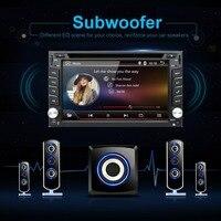 Android6.0 Universal 2 din Car DVD Player Radio GPS Bluetooth de Navegación doble din pantalla táctil de coches stereo RDS TV analógica