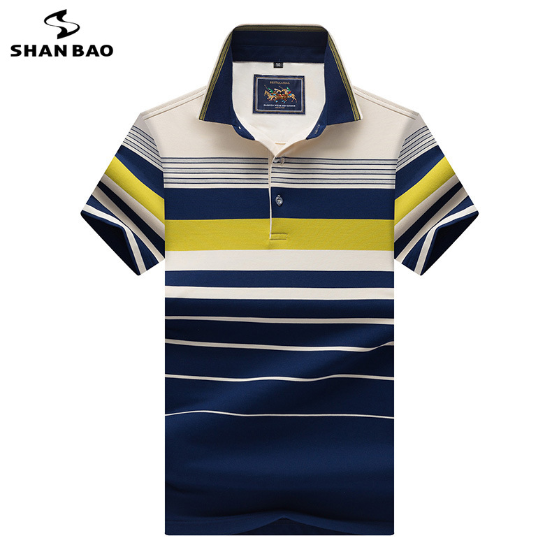 Business gentleman casual men's lapel short-sleeved   Polo   shirt 2019 summer new style high-grade cotton lapel   Polo   shirt