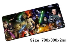Star wars padmouse 700x300mm almohadilla para el ratón Profesional gaming mouse pad gamer notbook ordenador mousepad para laptop alfombrilla para el ratón