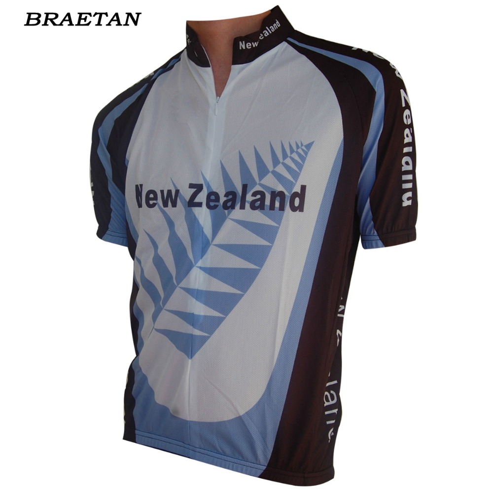 New Zealand cycling jersey white black blue cycling clothing classic style bicycle  clothing summer can customized braetan 7e6d9c969