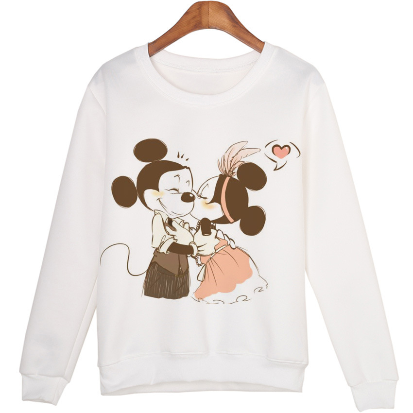 Minnie Mouse Cosplay Costume Cartoon Minnie Mouse Print Print Top Fashion wild trend pullover sweater men and women sweater