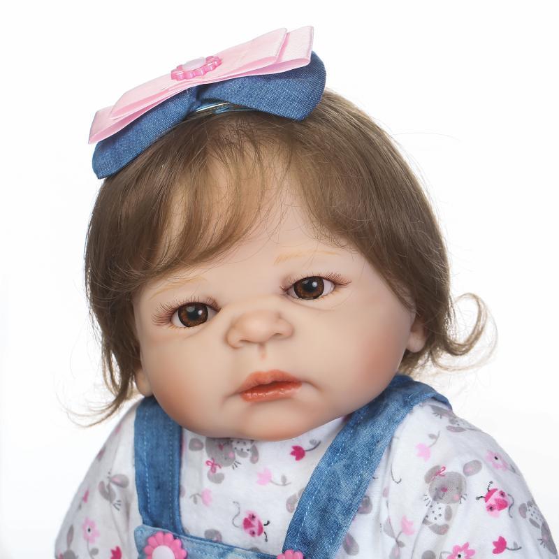 NPKCOLLECTION Reborn Baby Girl Dolls Full Silicone Vinyl 57cm Lifelike Bebe Reborn Alive Doll Hot Kids