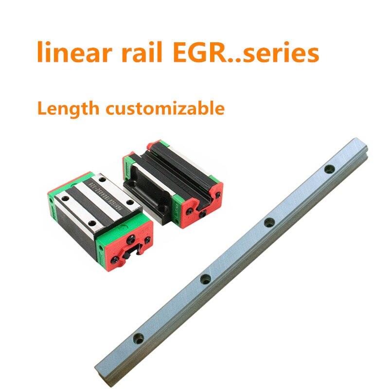 Livraison gratuite CNC rail linéaire 15mm guides de rail linéaire EGR15-toute longueur 2 pièces + 4 pièces EGH15CA/EGW15CA bloc de roulement linéaire