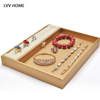 LVV HOME pu leather jewelry storage box/Jewelry display tray ring necklace rops finishing box