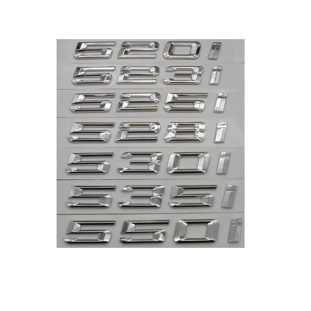 "Gloss Black /"" 528 i /"" Number Trunk Letters Emblem Badge Sticker for BMW 5 Series"