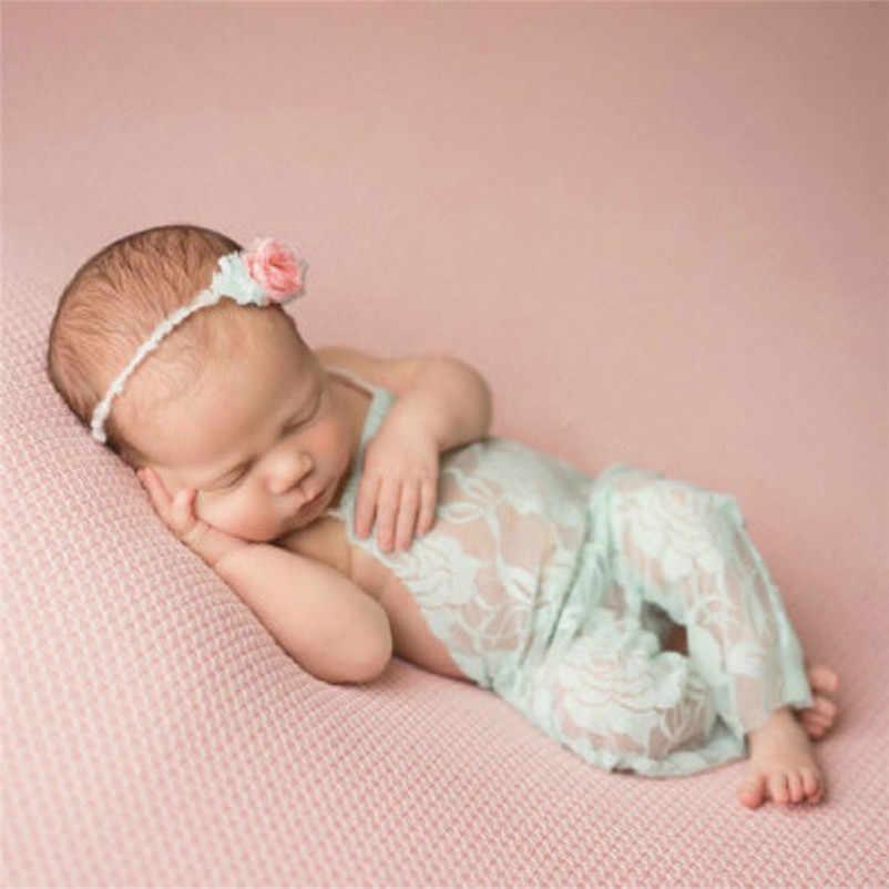 Gorąca sprzedaż lato noworodek niemowlę dziecko dziewczyna fotografia rekwizyty body niemowlęce z koronką słodkie dziecko księżniczka ubrania dla dzieci dziewczyna sukienka