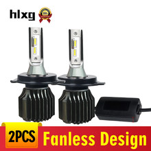 Sin ventilador Led COCHE H7 frente bombillas H4 LED COCHE bombillas de faros H1 9005, 9006 de 9012 ampolla LED Voiture H3 H8 h11 Luces LED para coche(China)