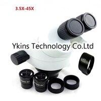 3.5X 7X 45X 90X electronic industry mobile phone repair binocular stereo microscope head for SMT PCB mobile phone repair