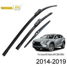 Щетки стеклоочистителя Misima для Lexus NX Series NX200 NX200t NX300h 2015 2016 2017 2018 2019, передние и задние Стеклоочистители