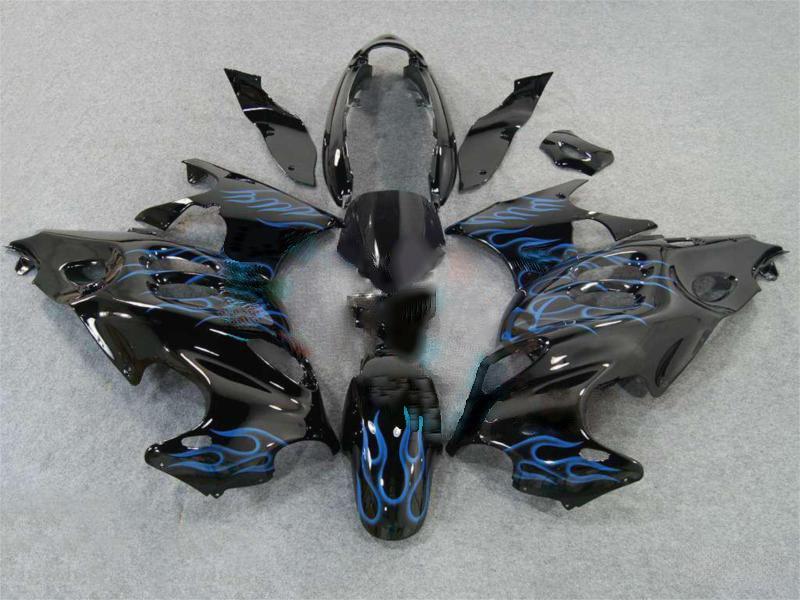 black Blue flame ABS Fairing for Suzuki GSX600F GSX750F 97 98 99 00 ...