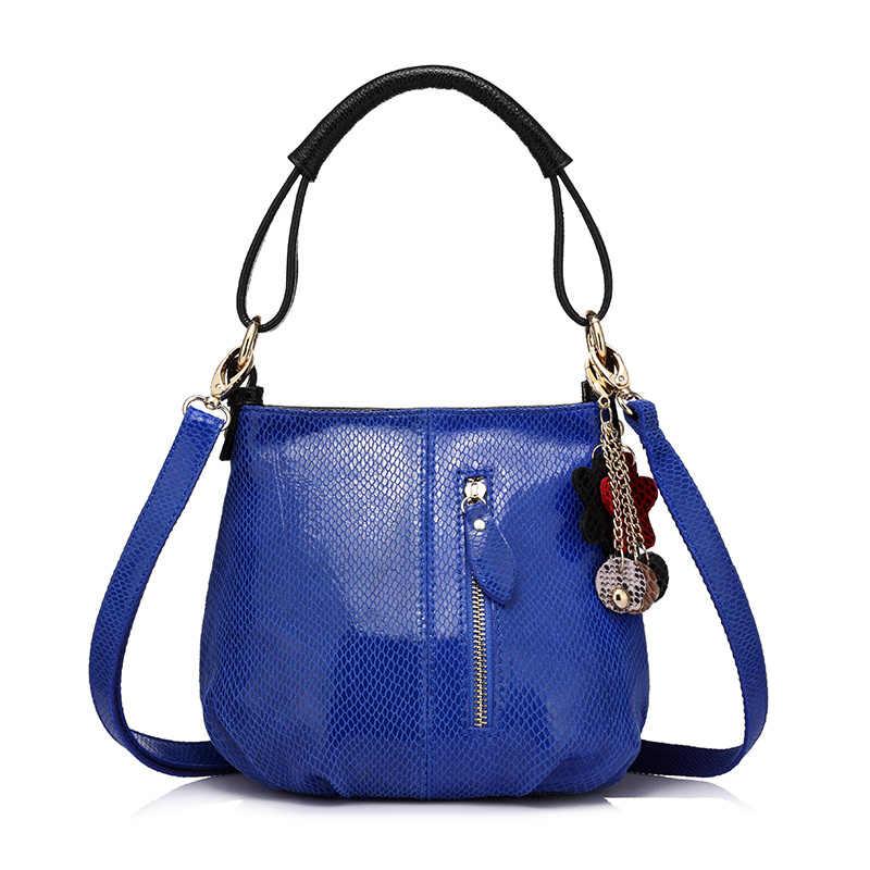 e161bb01c07e Realer новые женские Натуральная кожа Сумочка Дамы Змеиный Сумка женская  мода Малый Hobos сумка