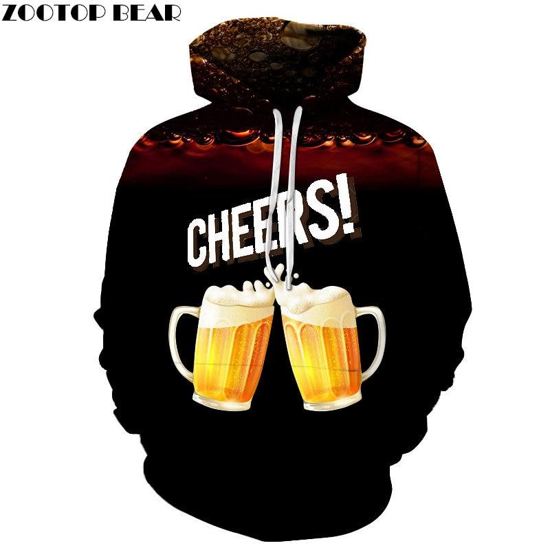Black Men Hoodies Casual Brand Sportsuit Coffee Beer Tracksuits 3d Oversized Pullover Streetwears Sweatshirt DropShip ZOOTOPBEAR