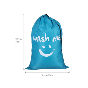 Image 5 - Wäsche Tasche Faltbare Nylon Kordelzug Wäsche Tasche Schmutzige Kleidung Lagerung Taschen Multi funktionale Hause Waschsalon Reise Veranstalter