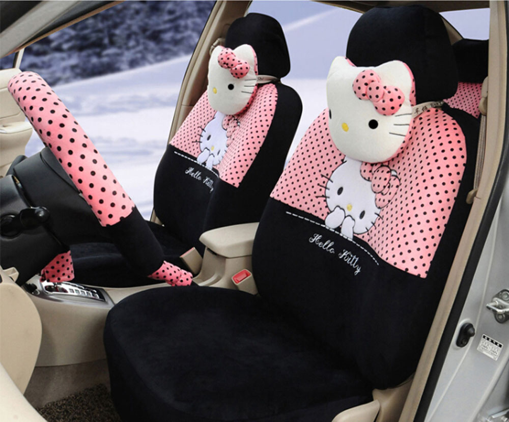 Hello Kitty 18pcs 043 Pinkblack Fashion Car Seat Cover Set Car