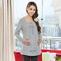 Топы и Блузки Хлопок Уход Одежда для Беременных Грудное Вскармливание Блузки для Беременных Женщин Повседневная Топы Материнства