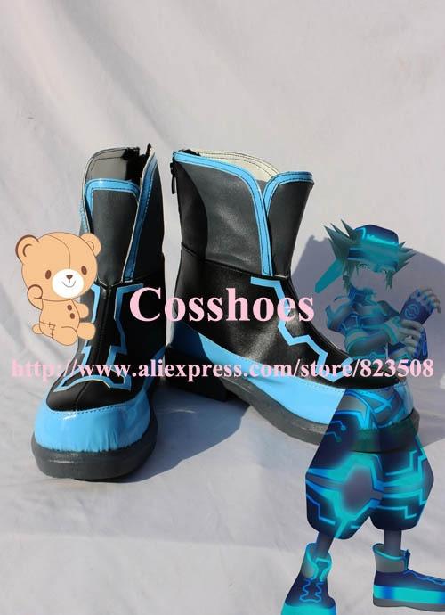 Pasirinktiniai mėlynos spalvos batai iš Kingdom Hearts Cosplay