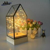 Fire Tree Silver Flower Glass Cover Cabin Light USB LED Decor Light Bedside Reading Light Breastfeeding