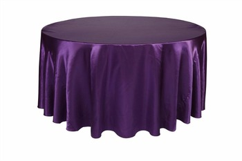 Marious Hot Sale many colors 10pcs Satin  round table cloth for weddings parties hotels restaurant  Free Shipping