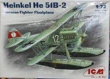 ICM 72192 Heinkel He 51 B2 German fighter floatplane 1 72 scale model kit