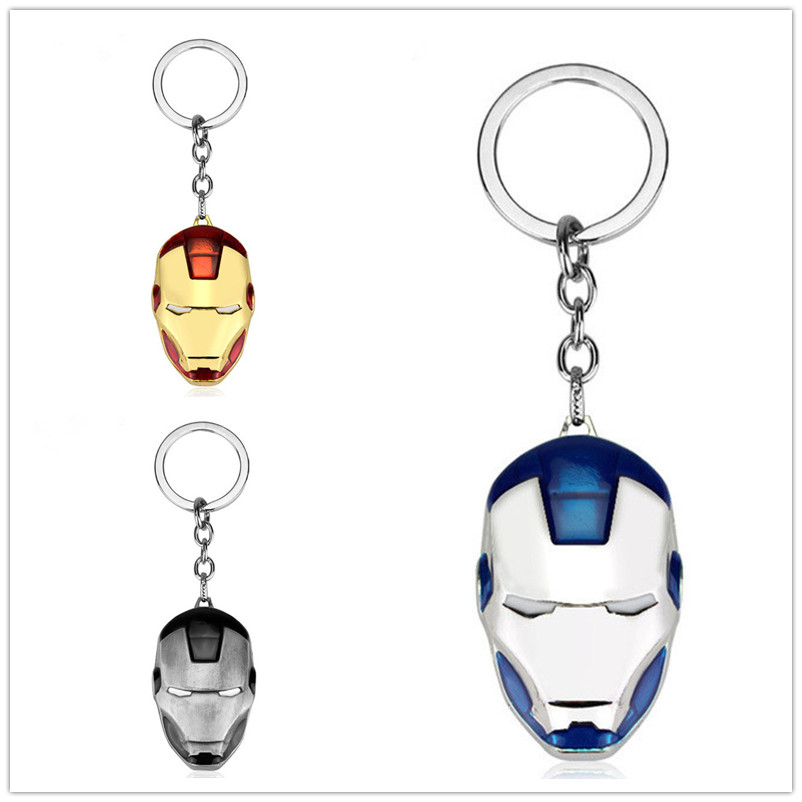 Car Jewelry Keychain Captain America Batman Steel Spider Avengers Superhero Accessories