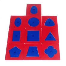 Baby Toys Materials Professional Quality Metal Insets Set/10 Early Childhood Education Preschool Geometrical Shapes
