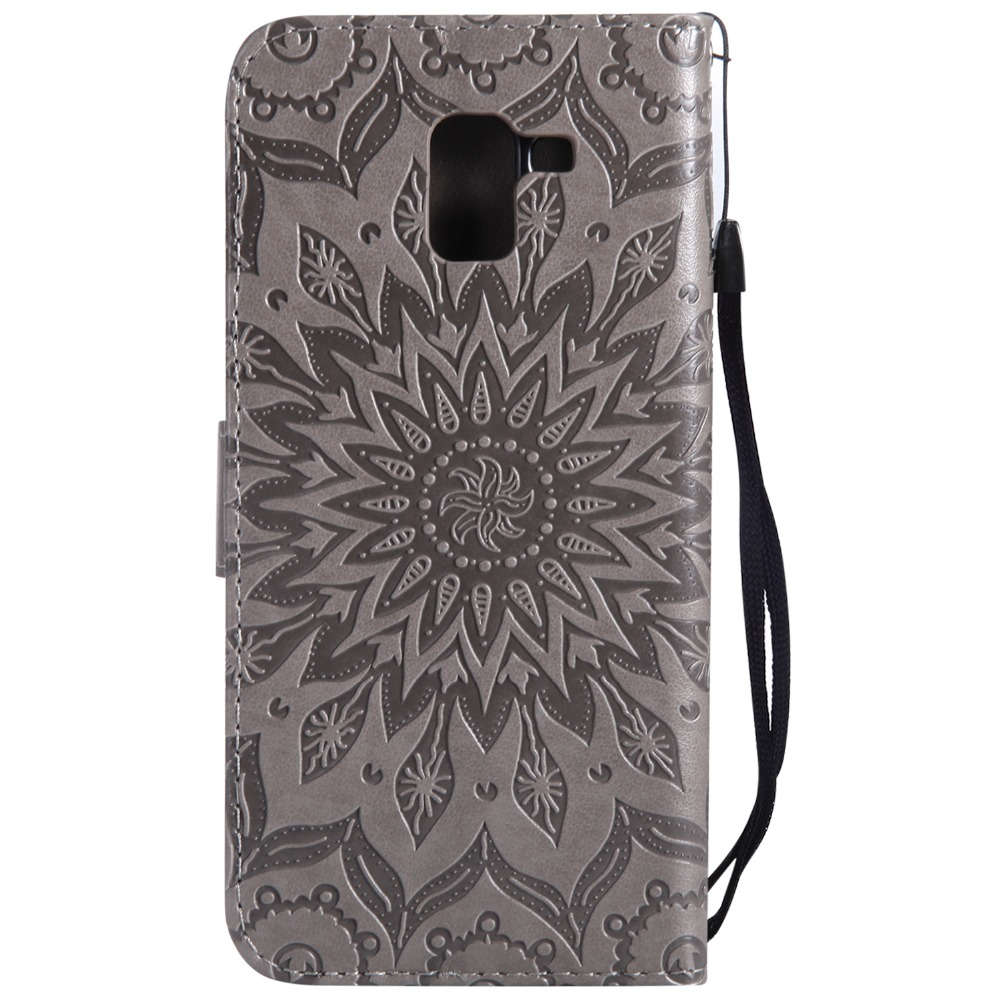 PU Leather Phone Case Wallet Cover For Samsung Galaxy J1 J2 J3 J5 J7 A3 A5 2016 2017 J6 J4 A6S A7 A8 Plus A9 2018 Flip Stand Bag in Wallet Cases from Cellphones Telecommunications