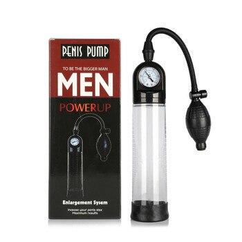 Juguete sexual de entrenamiento para hombres VIBRADOR ELÉCTRICO del pene bomba de vacío pene enlargador manga de retraso eyaculación herramienta sexual masculina tapa de silicona