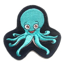Custom Embroidered patch Iron On badge Sea Creature Ocean Beach factory OEM direct customize your logo design