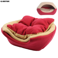 Ganyue Multifunctional 2 uses Pet Dog Cat Bed With Mat Foldable Puppy Kitten Nest Sleep House For Small Medium Dogs and Cats