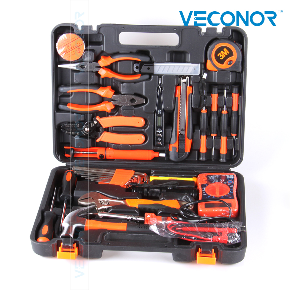 35pcs electrician hand tool set kit household tool kit saw screwdriver hammer tape measure wrench plier вытяжка со стеклом kaiser a 9419 n