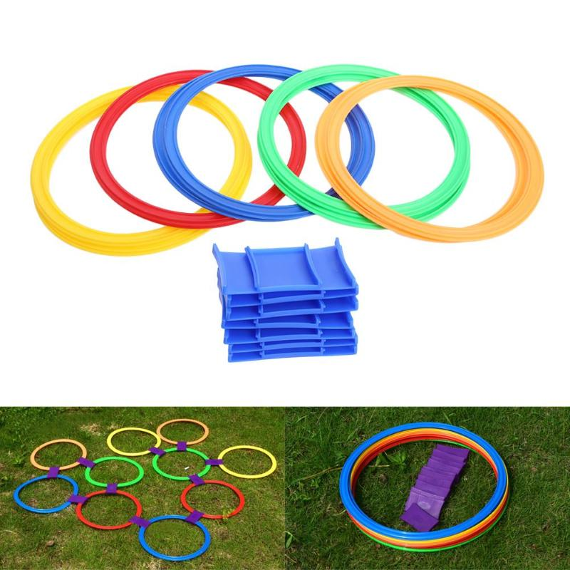 Outdoor Toys Sports Jumping Ring Preschool Teaching Aid Hopscotch Gymnastic Ring Children Movement Ability Training Game toys