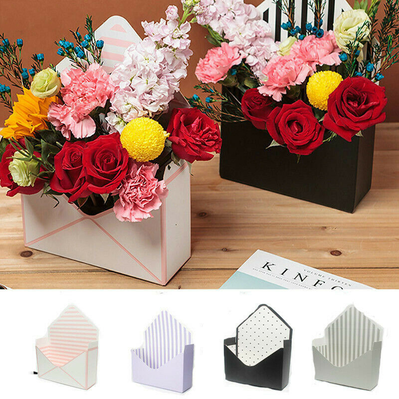 Image 2 - Korean Style Bouquet Box Creative Folding Envelope Flower Box Mother's Day Flower Box Romantic Envelope Flower Paper Holder-in Gift Bags & Wrapping Supplies from Home & Garden