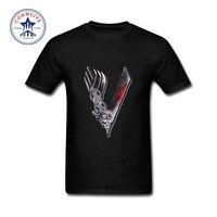 2017 Funny Graphic Funny Prints Ragnar Lothbrok Vikings Cotton T Shirt For Men
