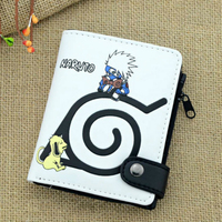 Animation Naruto PU Leather Wallet For Boys Girls High Quality Hokage Ninjia PU Leather Money Clip Boy Girl Wallets portefeuille