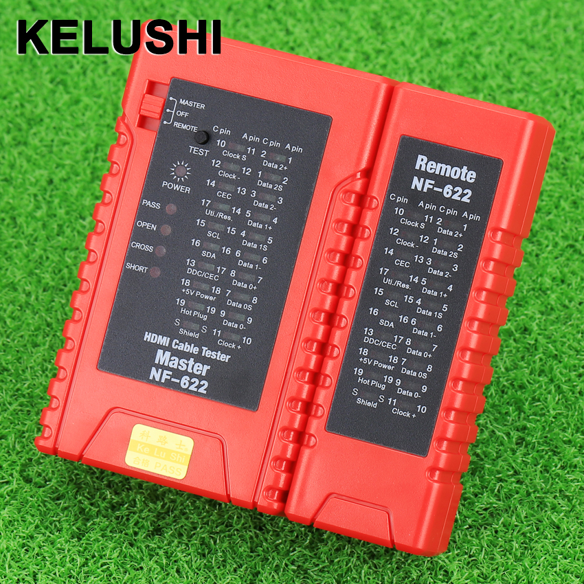 KELUSHI Fiber Optical Netwet Tester Tool NF-622 Portable HDMI High Definition Cable Tester A-A, A-C, C-A C-C pieces палантин