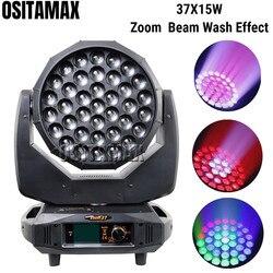 Nowy 37x15w Zoom Beam Wash reflektor z ruchomą głowicą 4w1 RGBW cztery kolory wysokiej jasności efekt odlewania ciśnieniowego Luces oświetlenie sceniczne LED