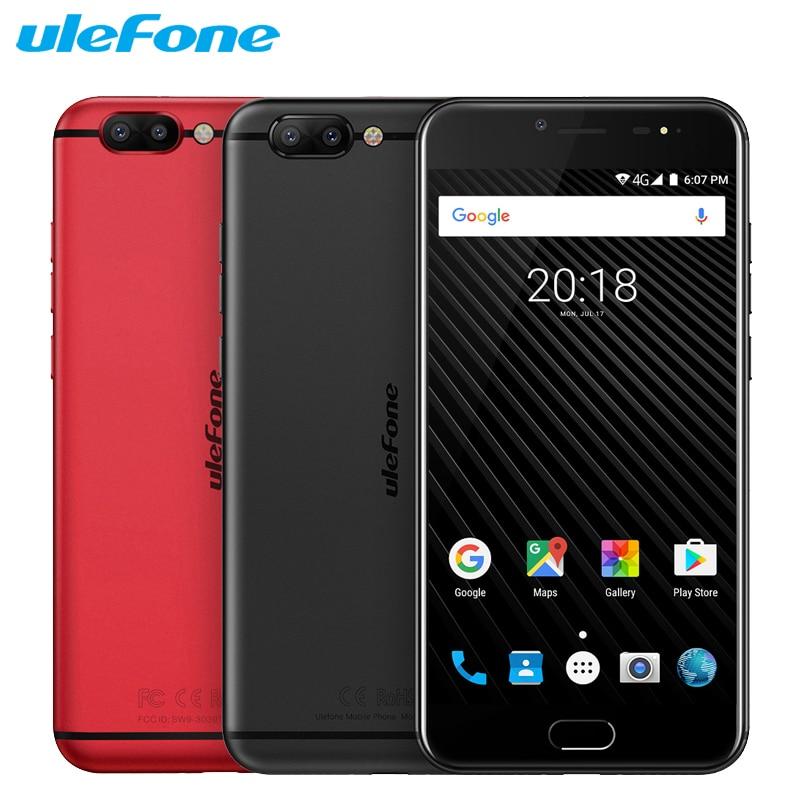 Original Ulefone T1 Cell Phone 5.5 inch Screen 6GB RAM 64GB ROM Helio P25 Octa Core Android 7.0 Dual Cameras 3680mAh Smartphone