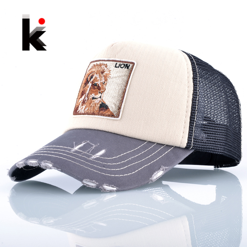 Drake Hat Baseball-Caps Snapback Mesh Embroidery Lion Trucker-Bone Breathable Fashion