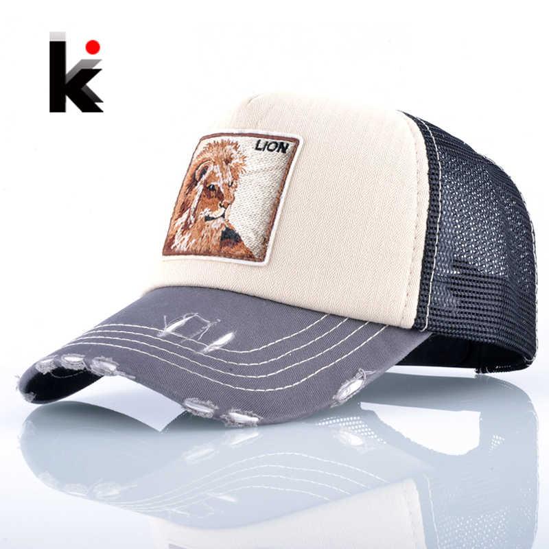 Gorra de Drake de moda Unisex para hombres y mujeres transpirable malla  León bordado béisbol gorras cbb95121394