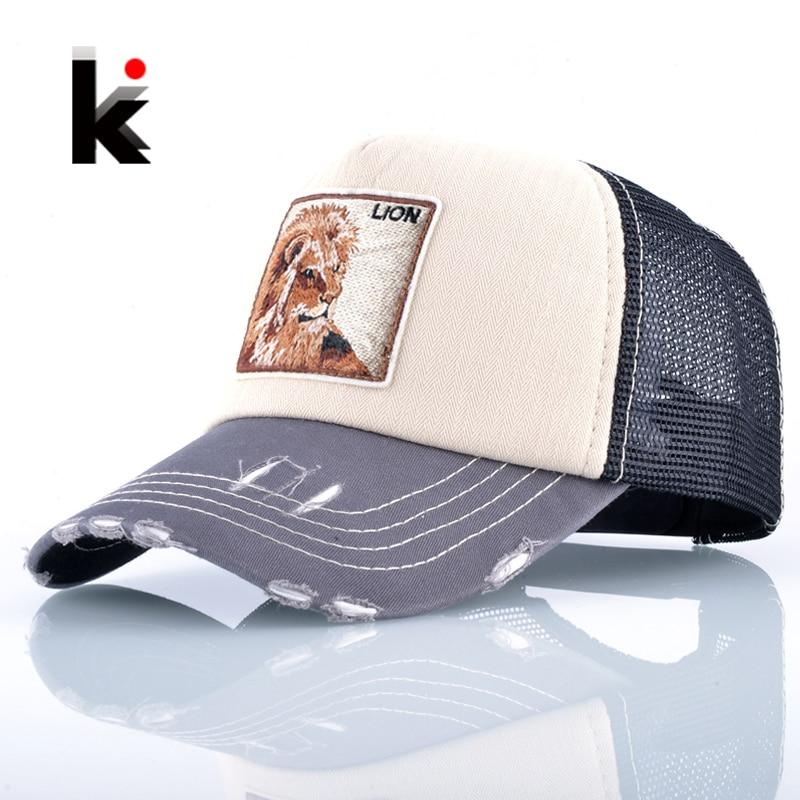 Unisex Fashion Drake Hat For Men And Women Breathable Mesh Lion Embroidery   Baseball     Caps   Snapback Hip Hop Trucker Bone Casquette
