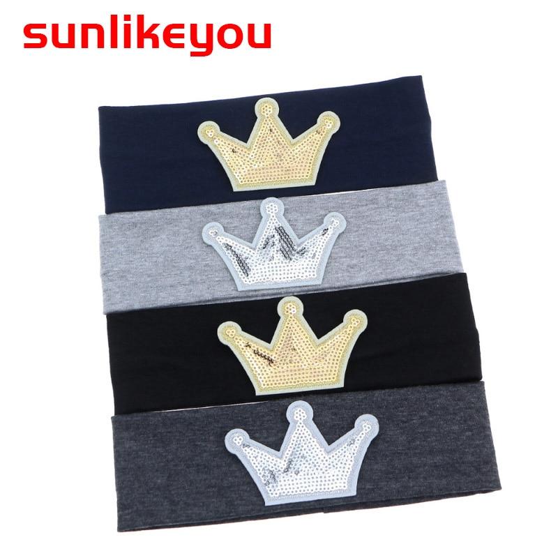 Sunlikeyou 2019 New Arrival Hair Bands For Girls Newborn Cotton Soft Elastic Fabric Kids Baby Crown Turban Headband